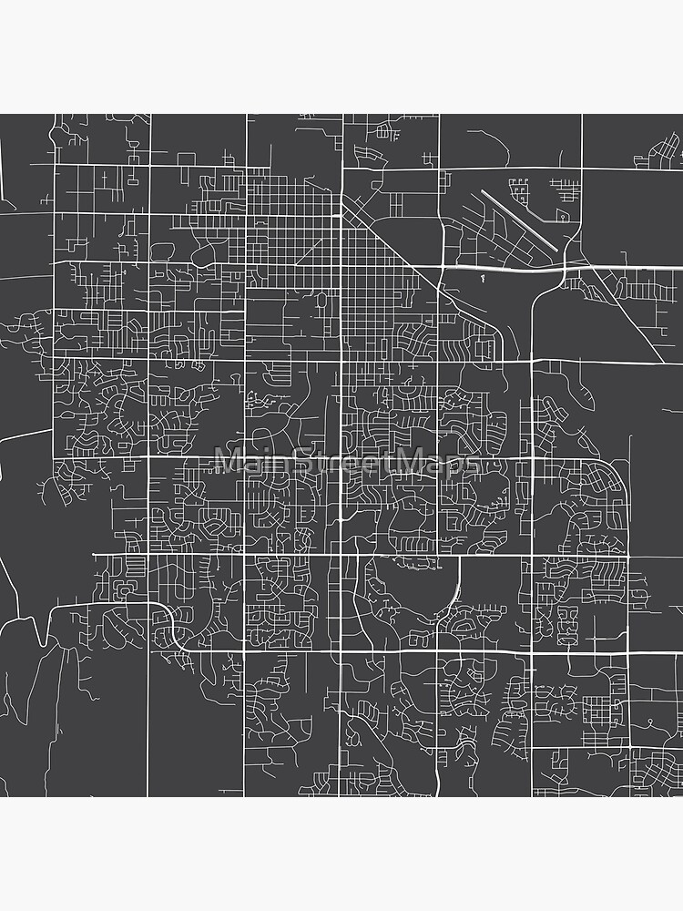 Fort Collins Map, USA - Gray by MainStreetMaps