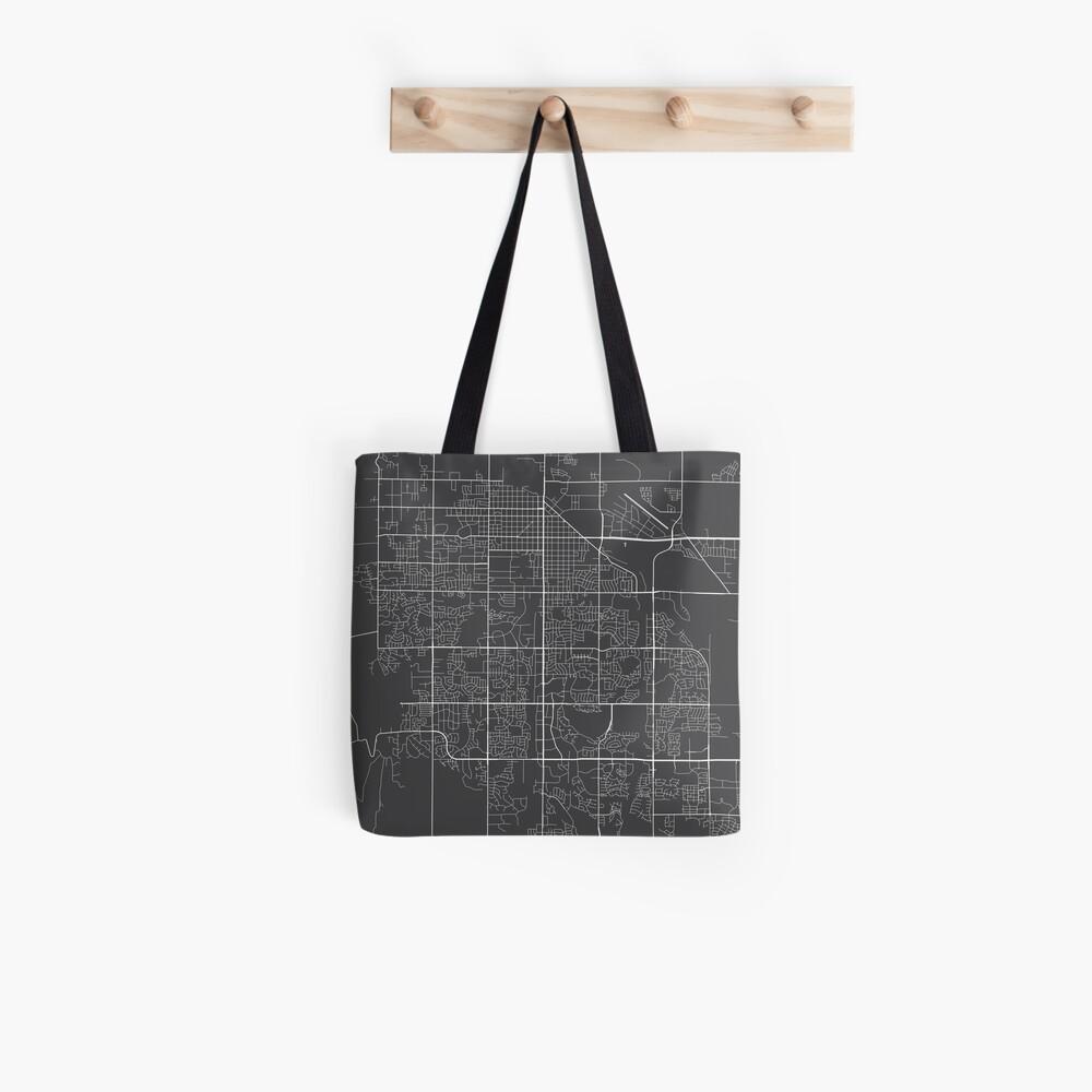 Fort Collins Map, USA - Gray Tote Bag