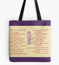The Warning - When I am an old woman I shall wear purple Tote Bag