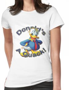 """Anti Trump """"Donald's A Quack"""" Womens Fitted T-Shirt"""