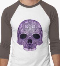 Purple Skull Men's Baseball ¾ T-Shirt