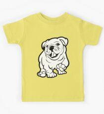 Happy Bulldog Puppy  Kids Tee
