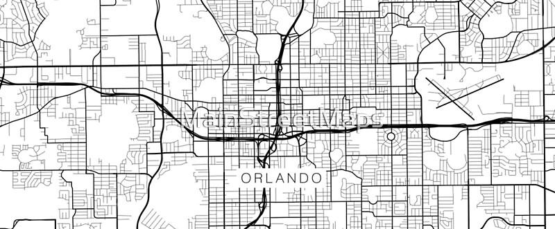 Orlando Map USA Black and White Mugs by MainStreetMaps Redbubble