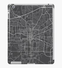 Tallahassee Map, USA - Gray iPad Case/Skin