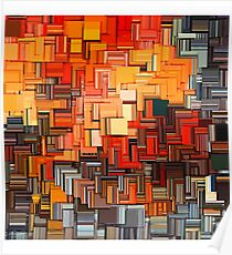 Orange Abstract  Poster
