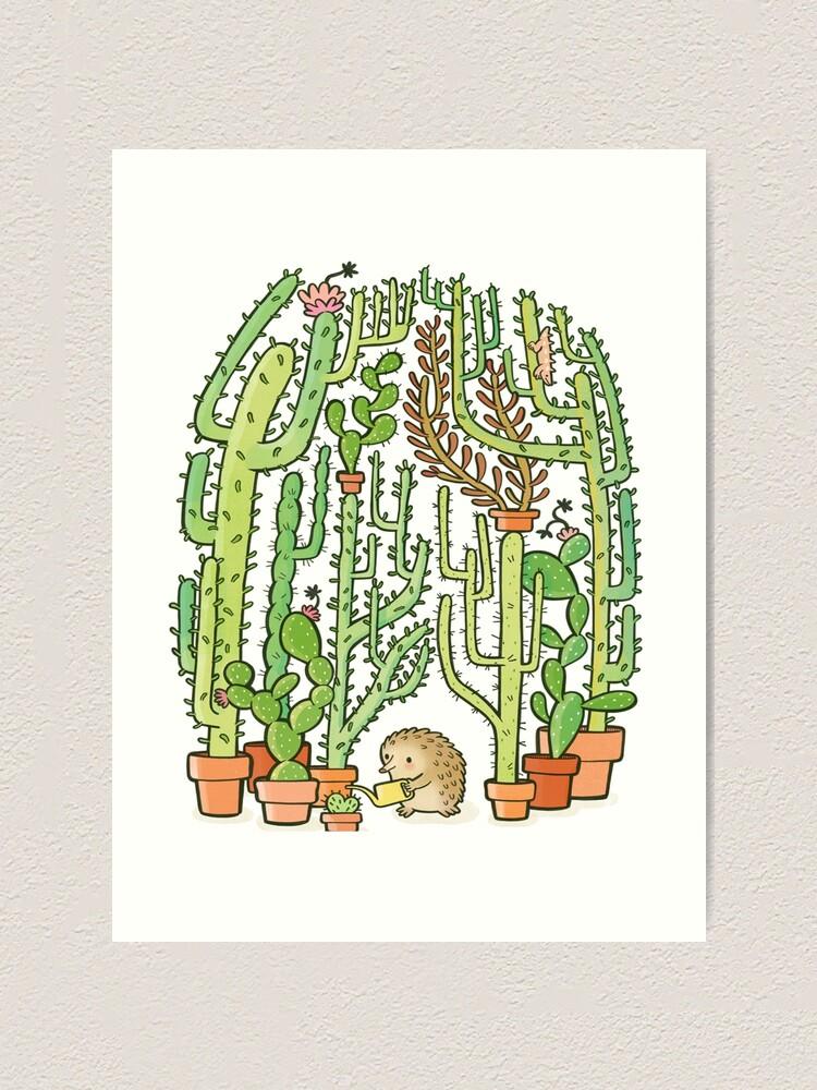 Alternate view of hedgehog cacti Art Print