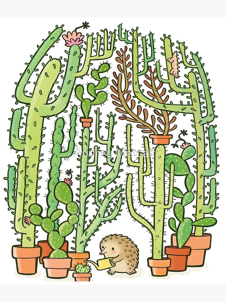 hedgehog cacti by AUDREYHELLADOPE