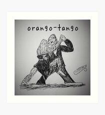 "PUN COMIC - ""ORANGO-TANGO"" Art Print"
