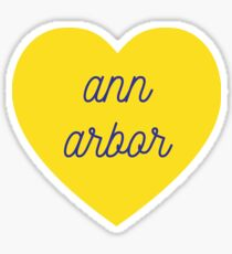 ann arbor heart Sticker