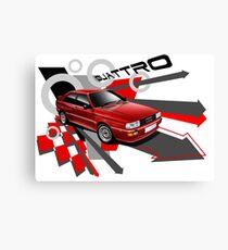 Red Audi quattro T-shirt 'Explosion' Canvas Print