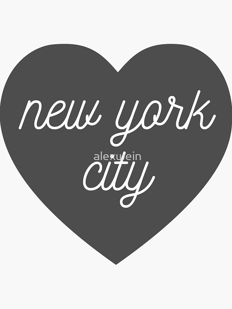 corazón de la ciudad de nueva york de alexwein