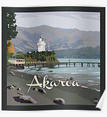 Akaroa light house, NZ by Ira Mitchell-Kirk Poster