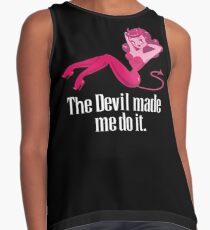 The Devil Made Me Do It Contrast Tank