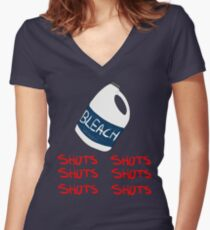 SHOTS Women's Fitted V-Neck T-Shirt