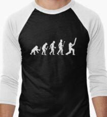Cricket Evolution Of Man  Men's Baseball ¾ T-Shirt