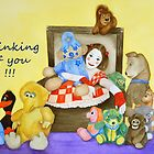 Mime & toys thinking of you by Baina Masquelier