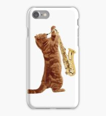 Saxophone Cat - Meowsicians iPhone Case/Skin