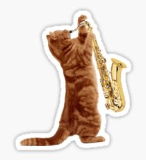 Saxophone Cat - Meowsicians Sticker