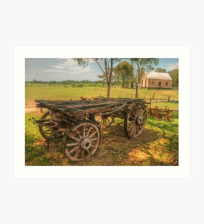 The Dray & Miss McMahons Cottage Art Print