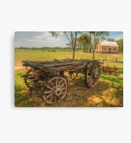 The Dray & Miss McMahons Cottage Canvas Print