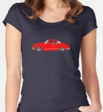 Red Karmann Ghia Women's Fitted Scoop T-Shirt