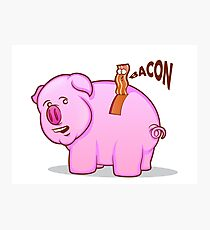 Bacon Pig Photographic Print