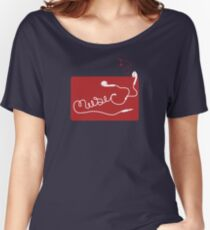 Music Earbuds Women's Relaxed Fit T-Shirt