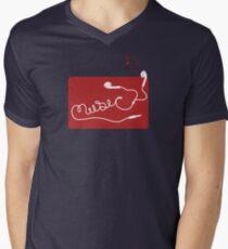 Music Earbuds Men's V-Neck T-Shirt