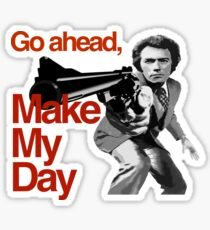 Dirty Harry - Go ahead, make my day! Sticker