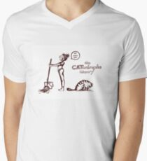 The CATastrophe Theory - The Hairball Men's V-Neck T-Shirt