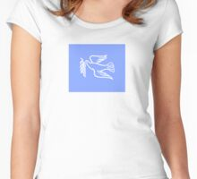 Peace Dove Flag Symbol - Sticker T-Shirt Women's Fitted Scoop T-Shirt
