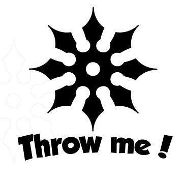Throw Me! (Black on white) by Rogann