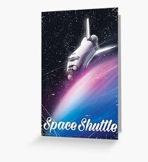 Space shuttle Science fiction space poster Greeting Card