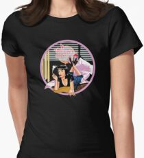 Pulp Fiction - Pink Mia@Jack Rabbits Variant Womens Fitted T-Shirt