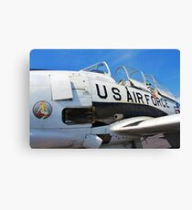 The Downwind T 28 US Air Force Trainer Canvas Print