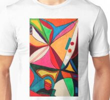 Fruit box Art - geometric abstract no 1 of 4 Unisex T-Shirt