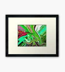 al rehman abstract painting Framed Print