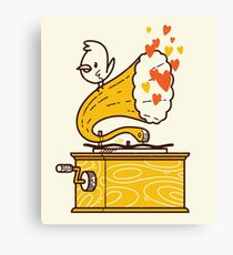 Phonograph and the Bird Canvas Print