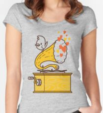 Phonograph and the Bird Women's Fitted Scoop T-Shirt