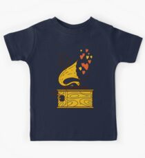 Phonograph and the Bird Kids Tee