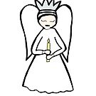 Angel Candle by Soxy Fleming
