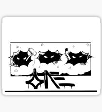 3 stooges Sticker