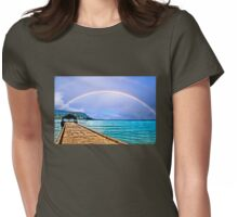 Hanalei Bay Pier Womens Fitted T-Shirt