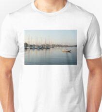 Reflecting on Yachting - Pastel Morning at the Marina T-Shirt