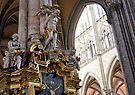 Interior, Amiens Cathedral, France by David Carton