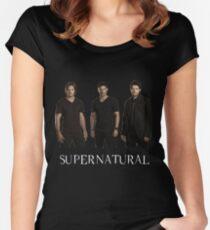 Supernatural - Jared, Jensen & Misha Women's Fitted Scoop T-Shirt