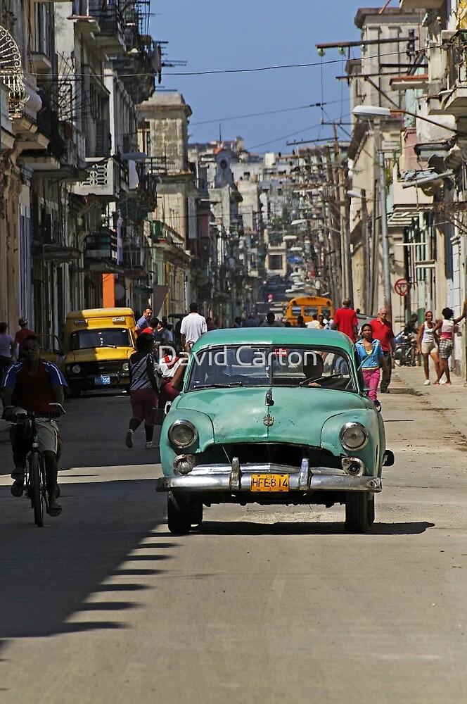 Street scene, Havana, Cuba by David Carton