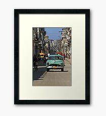 Street scene, Havana, Cuba Framed Print