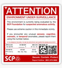 SCP Sign Sticker
