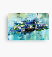 Lily Pond - morning - close up 1 Canvas Print